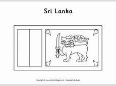 Sri Lanka Flag Printables for Kids