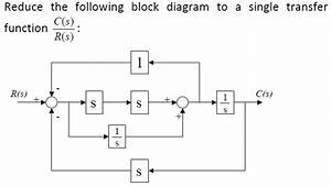 Solved  Reduce Block Diagram To Transfer Function