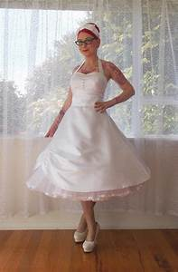 1950s 39cecilia39 pin up wedding dress with sweetheart With wedding pin up dresses