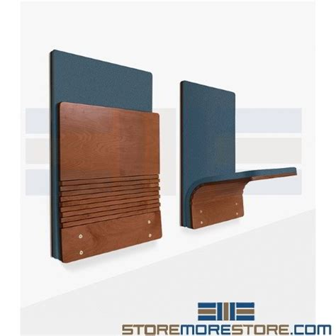 fold wall mounted seating space saving compact