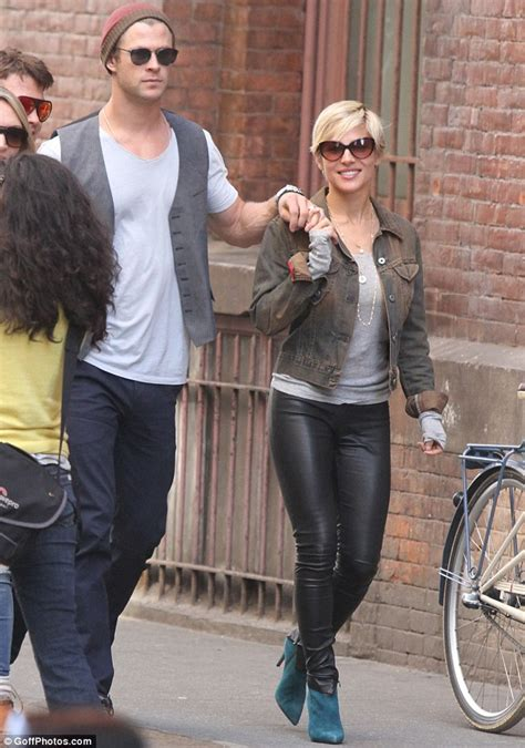 Chris Hemsworth and his wife Elsa Pataky both wear