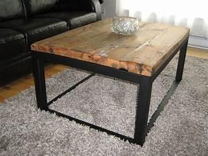 custom wood and iron coffee table by baywood custom With custom made wood coffee tables
