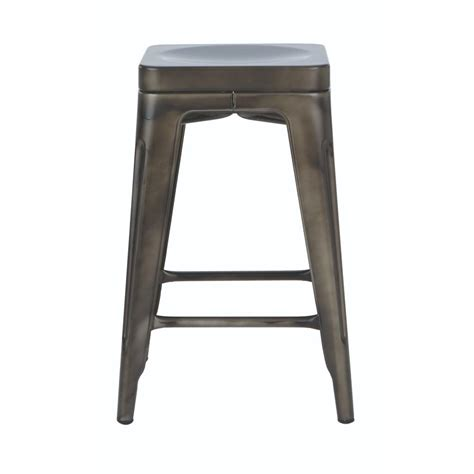 At Home Bar Stools by Home Decorators Collection Garden 24 In H Gun Metal