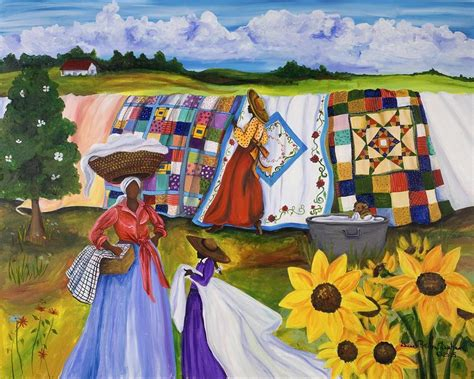 country quilts painting  diane britton dunham