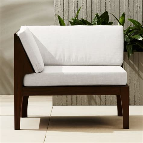 Corner Chair With Ottoman by Elba Outdoor Corner Chair Reviews Cb2
