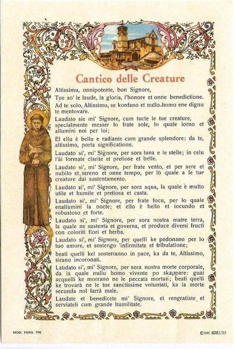 laudato sii o mi signore testo 15 best images about s francesco d assisi on
