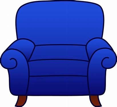 Armchair Chair Clip Clipart Cartoon Comfy Sofa
