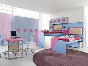 beautiful chambre fille rose et gris clair idees design With chambre de fille de 8 ans
