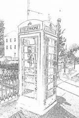 Booth Coloring Phone Oxford sketch template