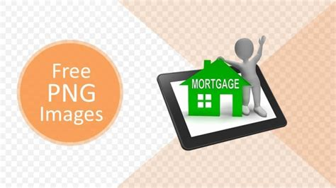 mortgage house png powerpoint template