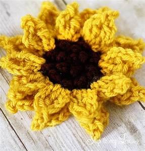 Day Planner Printable Crochet Sunflower Pattern