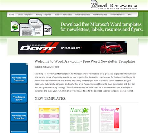 newsletter templates word free newsletter templates word