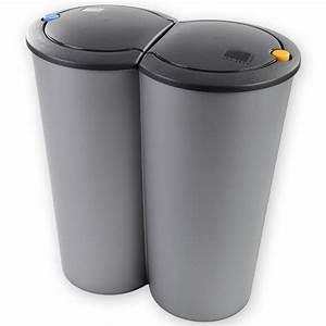 Doppel Mülleimer Küche : duo m lleimer 50l 2x25l 2 fach kunststoff m lltrenner abfalleimer treteimer ebay ~ Markanthonyermac.com Haus und Dekorationen