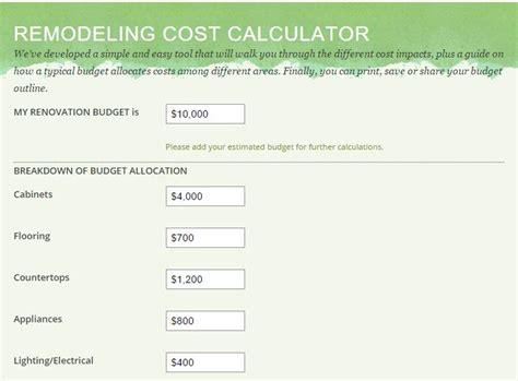 kitchen remodeling cost calculator green builders grp llc