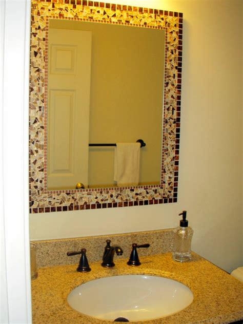 How To Decorate A Bathroom Mirror by How To Decorate Plain Bathroom Mirror
