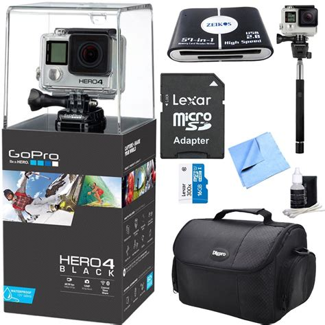 When these cameras were originally released, there were relatively few. HERO 4 Black - 4K Action Camera All Inclusive Bundle. Includes GoPro Hero 4 Black, 16GB ...