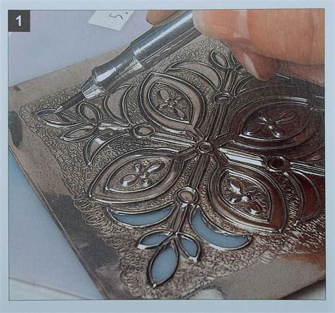gilding  lily classes  art  metal embossing