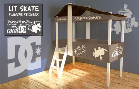 stickers marin chambre bébé lit cabane skateboard vente lit cabane pour enfants