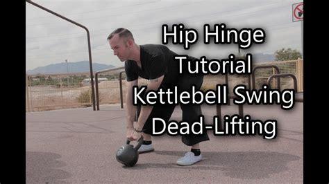 kettlebell hip hinge swing lift