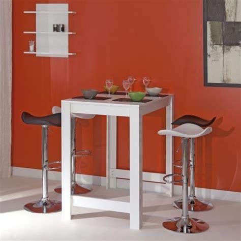 table bar cuisine curry table bar 4 personnes 70x110 cm blanc mat achat