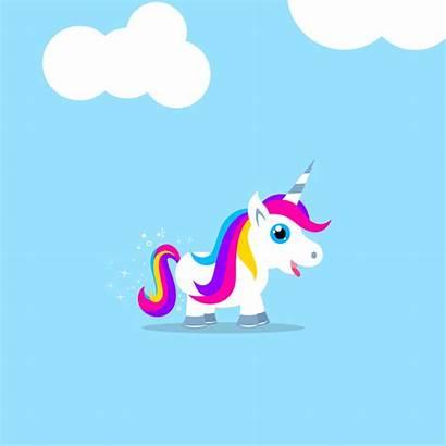 Unicorn Animation Gifs Kawaii Farting Jumping Happy