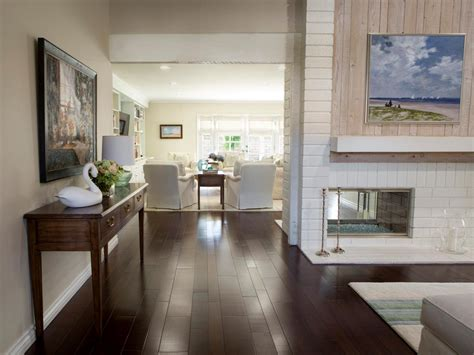 Living Room Entryway Design by Entryway Opens To Transitional Living Room With Coastal