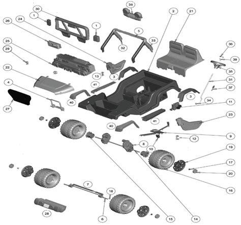 Power Wheels Disney Frozen Jeep Wrangler Parts