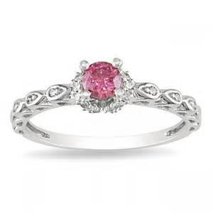and pink sapphire engagement ring pink sapphire and engagement ring in white gold jewelocean