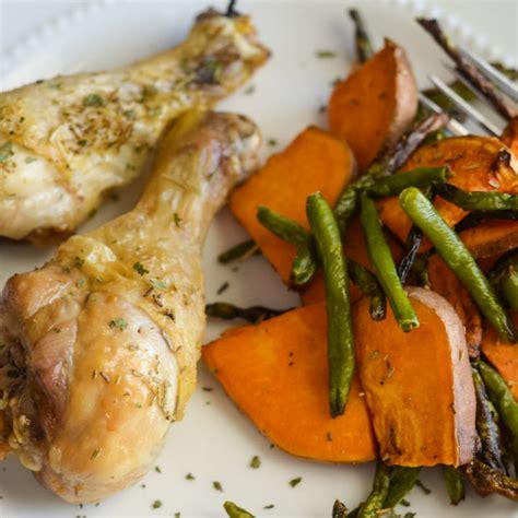 ninja chicken foodi air fryer legs vegetables beans potatoes cooking sweet