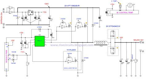 24v to 12v 400w dc inverter circuit