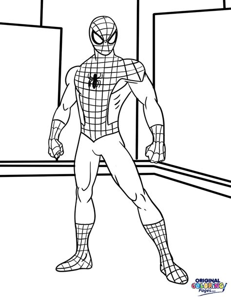 spiderman coloring pages original coloring pages