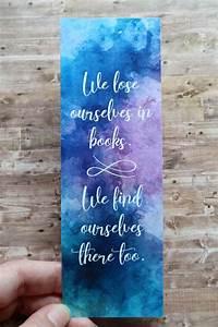 watercolor bookmark printable bookmarks book quote
