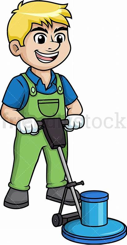 Polisher Floor Cartoon Clipart Using Clip Cleaning