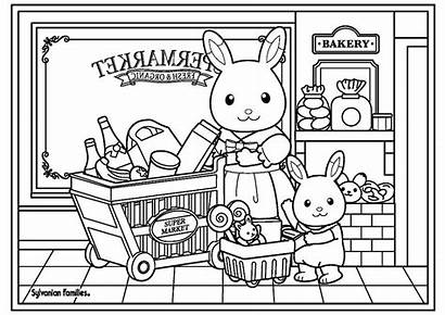 Calico Sylvanian Critters Coloring Families Pages Market