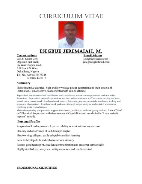 best electrical supervisor resume sle electrical supervisor technician electrician