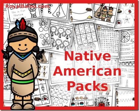 native american theme preschool american packs toddler through 3rd grade royal baloo 847