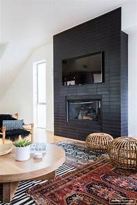 8, Stunning, Black, Fireplace, Makeovers, You, Can, Copy