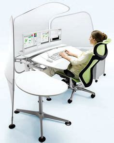 computer desk ergonomic design supine workstation using a relax the back zero gravity