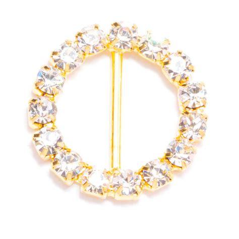 90pcs Gold Buckles, Wholesale Rhinestone Bling Wedding