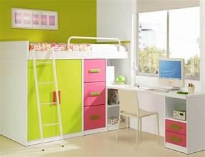 Lit Mezzanine Bureau Enfant : le lit mezzanine avec bureau est l 39 ameublement cr atif ~ Teatrodelosmanantiales.com Idées de Décoration