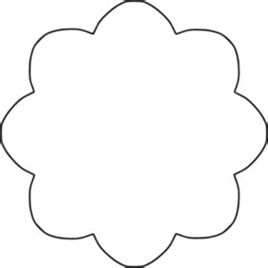 Clipart Flower 8 scallop circle background
