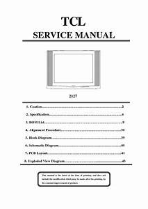 Tcl 2127  Service Manual  Repair Schematics