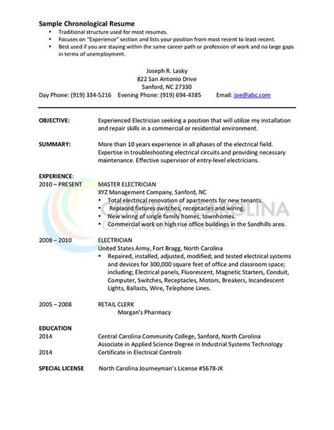 chronological resume format  complete guide hloom