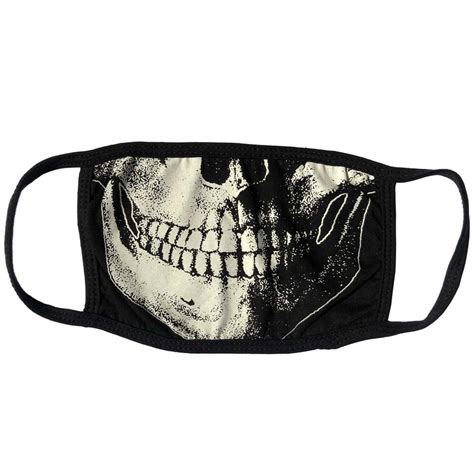 skull death white face mask nightmare toys