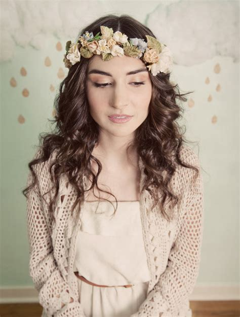 Beautiful And Boho Bridal Flower Crowns Chic Vintage Brides