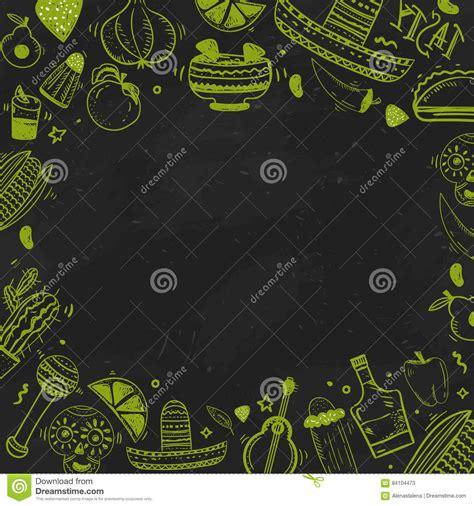 mexican food poster cartoon vector cartoondealercom