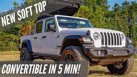 jeep gladiator soft top   youtube