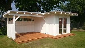 Gartenhaus mit terrasse und berdachung rahrig kreativausbau for Gartenhaus mit terrasse