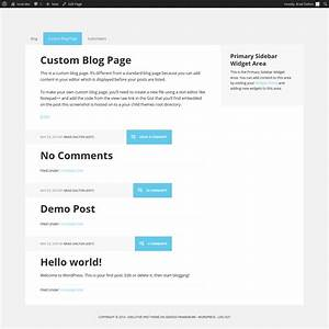 adding content before your posts on the blog page only With wordpress create blog page template