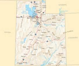 Utah Road Map with Cities
